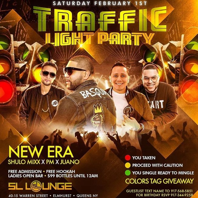 Flyer for Traffic Light Party At SL Lounge