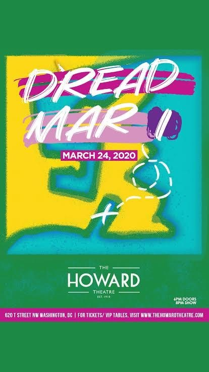 Flyer for POSTPONED: Dread Mar I en Concierto en Washington DC!