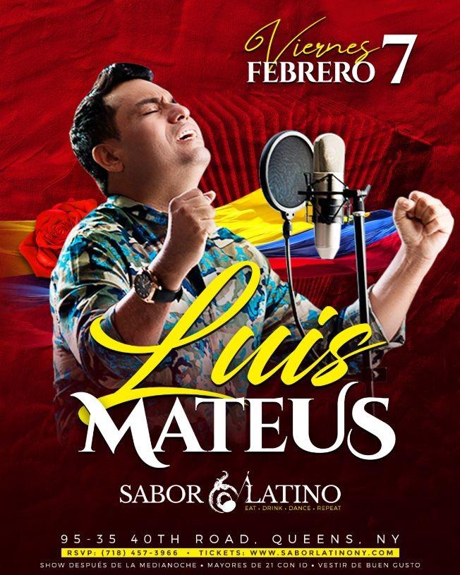 Flyer for Luis Mateus en Concierto