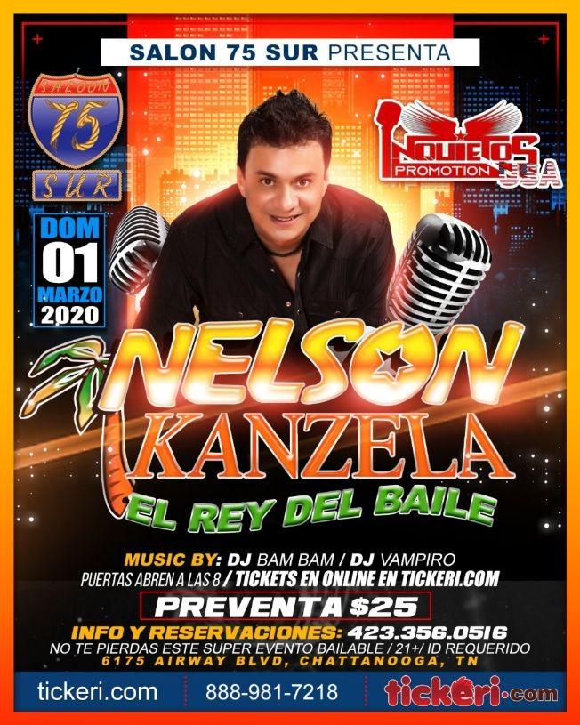 Flyer for Nelson Kanzela En Concierto En Chattanooga,TN