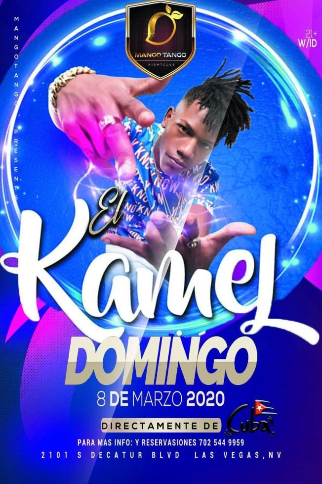 Flyer for El Kamel En Concierto En Las Vegas,NV