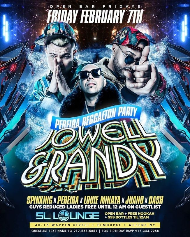Flyer for Jowell & Randy Live At SL Lounge