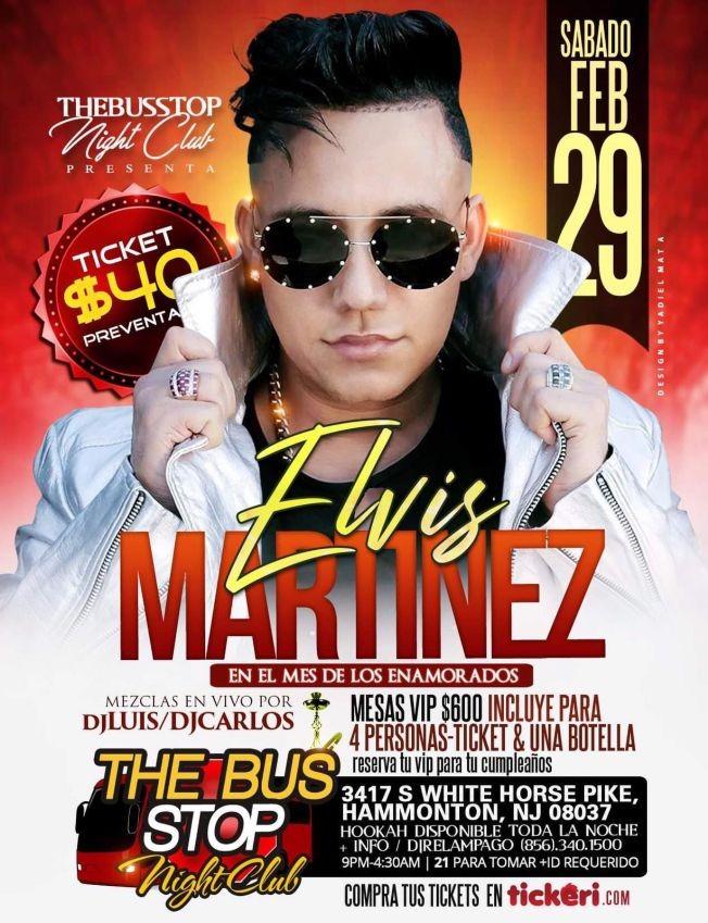 Flyer for Elvis Martinez En Concierto En Hammonton,NJ