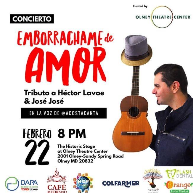 Flyer for ACOSTA CANTA EMBORRACHAME DE AMOR (Jonathan Acosta)