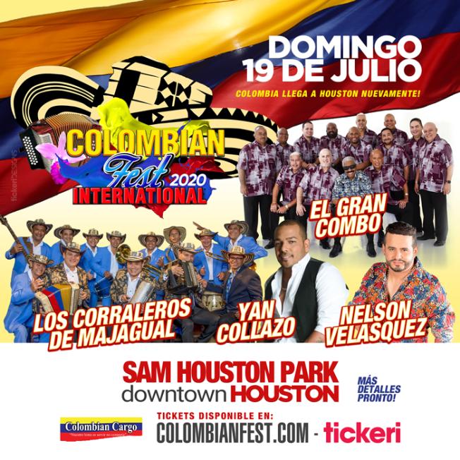 Flyer for Colombian Fest International 2020 en Houston,TX