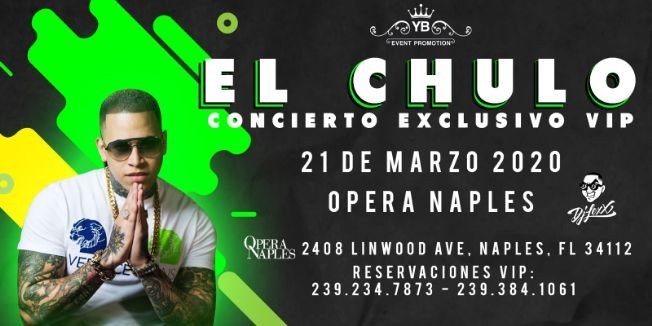 Flyer for EL CHULO POSTPONED