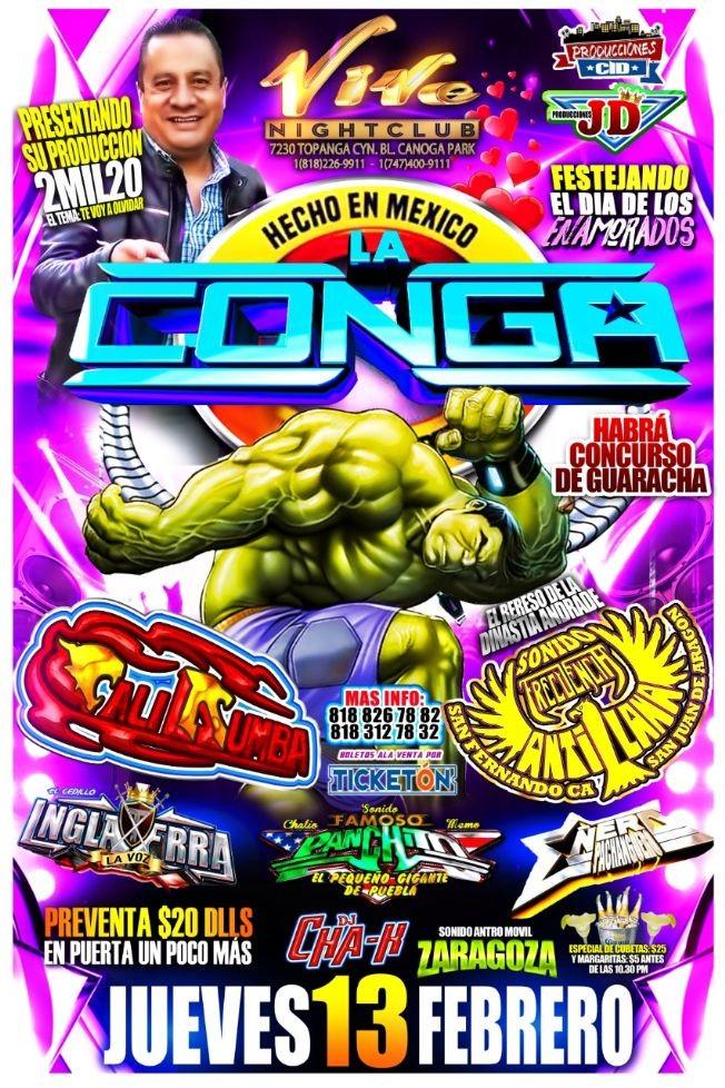 Flyer for Sonido La Conga,Sonido Cali Rumba y Mas En Canoga Park,CA