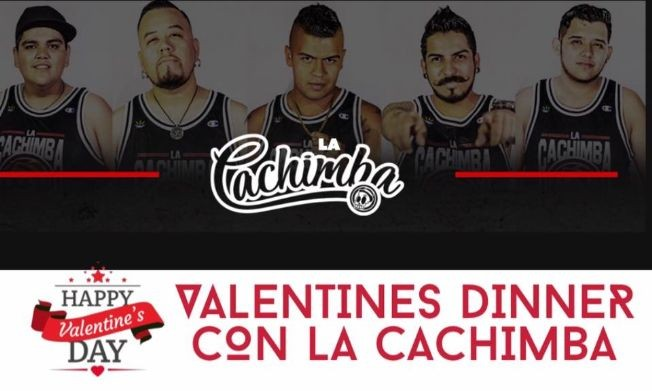 Flyer for Valentines Dinner/Dance with La Cachimba