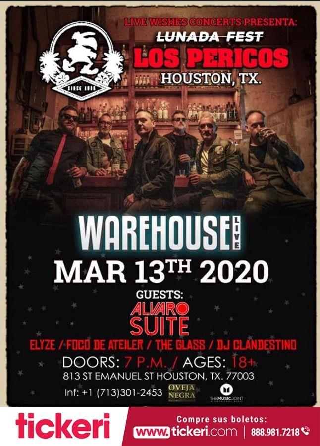 Flyer for Lunada Fest Con Los Pericos En Houston,TX CANCELED