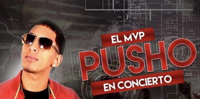 "Flyer for PUSHO ""EL MVP"" at LATINO FRIDAYS"