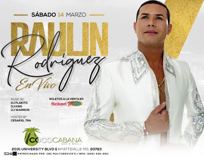 Flyer for RAULIN RODRIGUEZ EN MARYLAND NEW DATE CONFIRMED