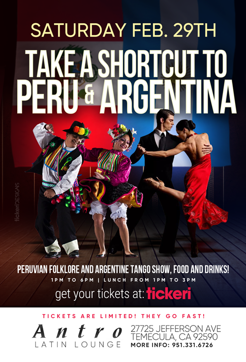 Flyer for SHORTCUT TO PERU AND ARGENTINA CANCELED
