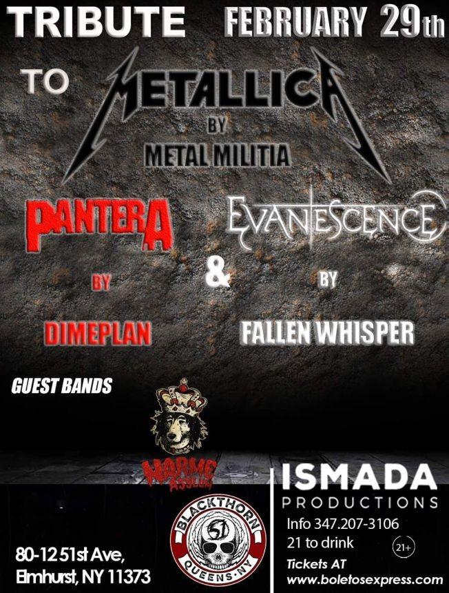 Flyer for Tributo A Metallica Por Metal Militia En Elmhurst,NY