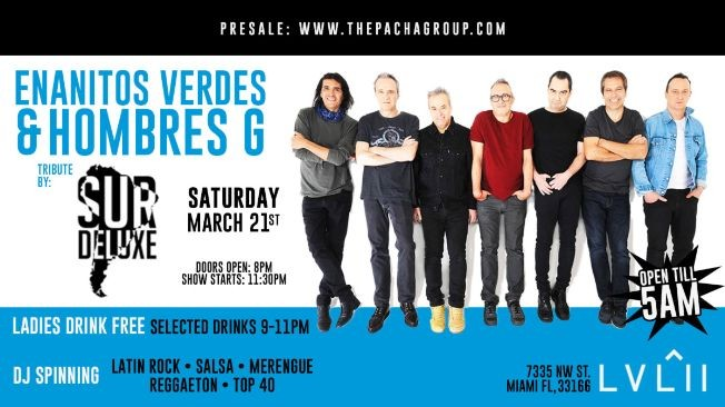 Flyer for Enanitos Verdes y Hombres G Tribute by Sur Deluxe