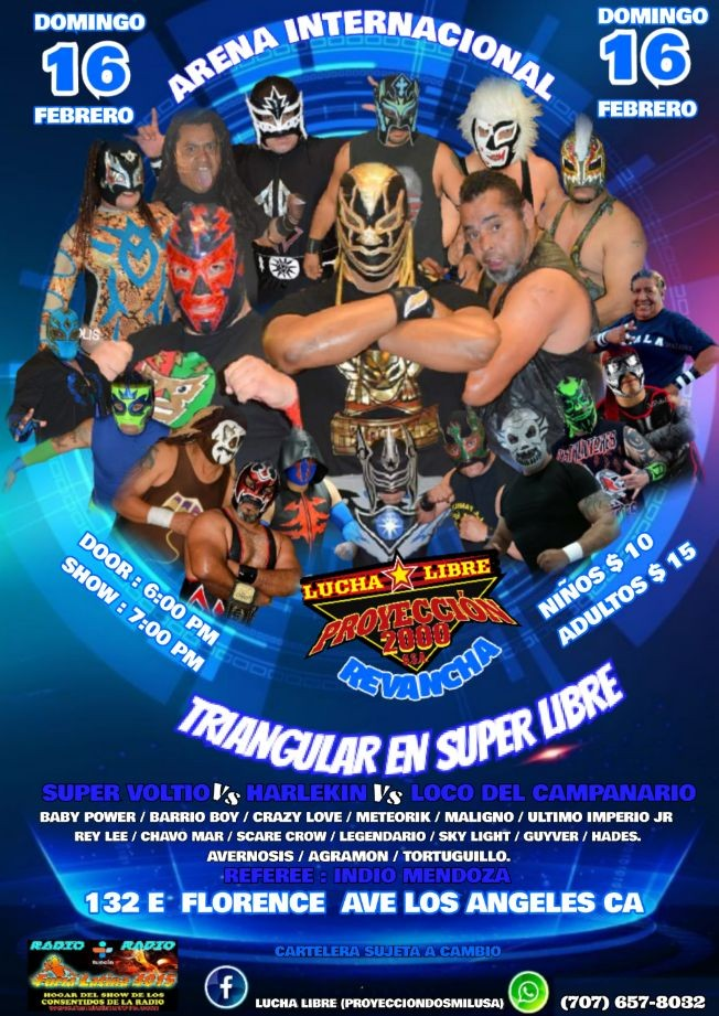 Flyer for lucha libre