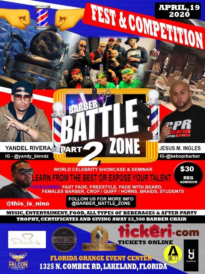 Flyer for Barber Battle Zone 2