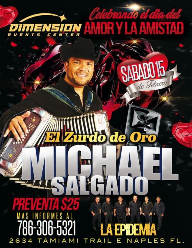 Flyer for MICHAEL SALGADO