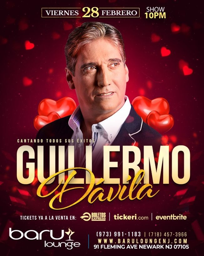 Flyer for Guillermo Davila en New Jersey
