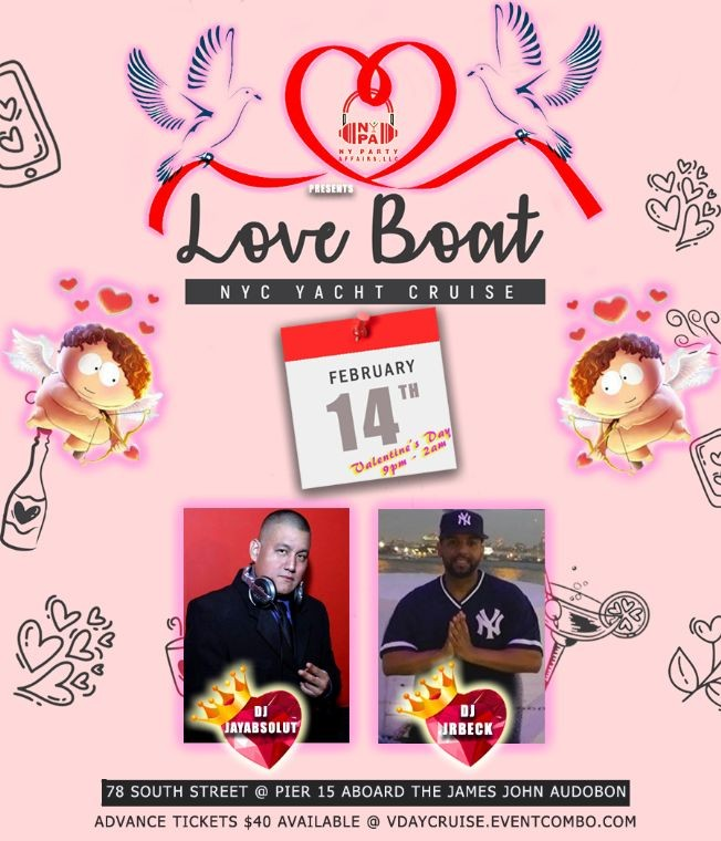 Flyer for LOVE BOAT NYC YACHT CRUISE