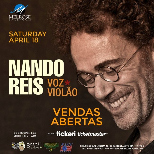 Flyer for Nando Reis Voz e Violão