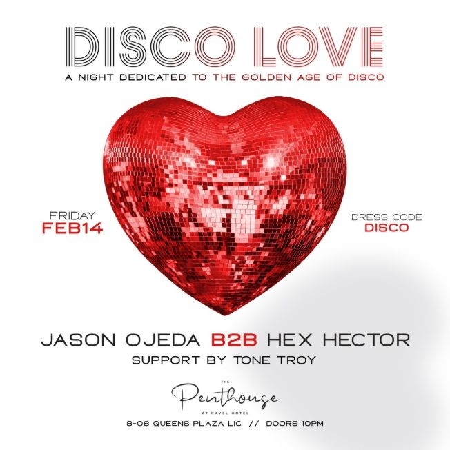 Flyer for Disco Ball 2020 Valentines Day Edition At Penthouse 808