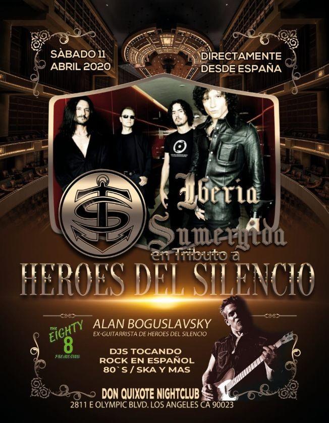 Flyer for HEROES DEL SILENCIO - De España/Iberia Sumergida-Tributo en vivo!!