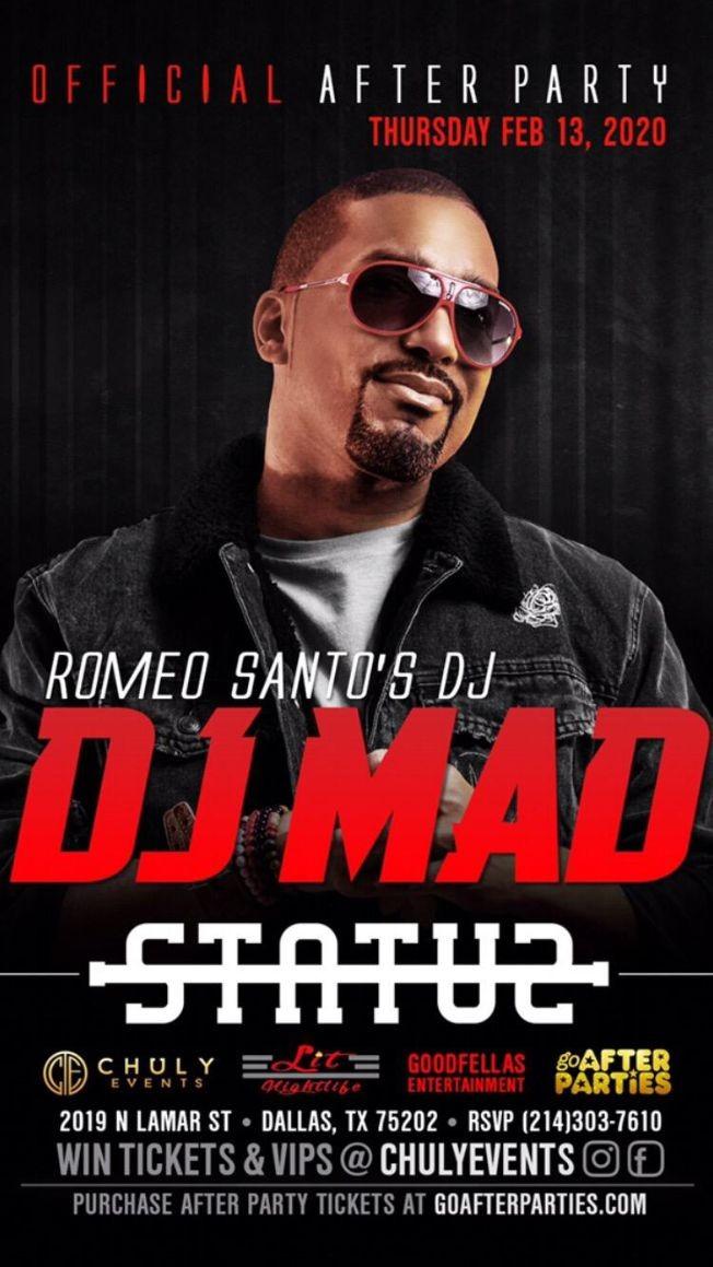"""Flyer for """"DJ Mad"""" El DJ de Romeo Santos en Vivo!"""