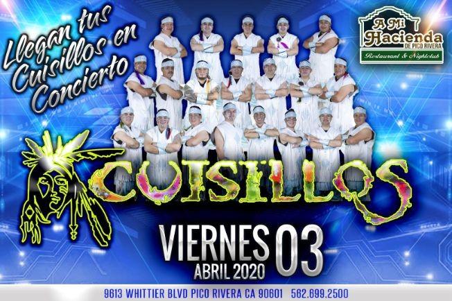 Flyer for Cuisillos En Concierto En Pico Rivera,CA POSTPONED