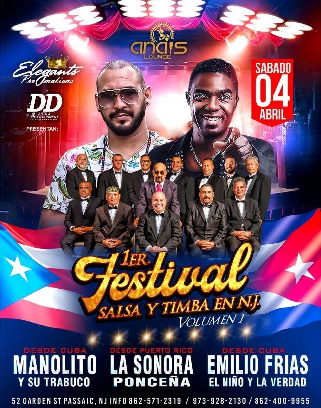Flyer for POSTPONED: 1er Festival Salsa y Timba En Passaic,NJ