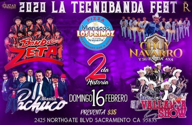 Flyer for La Tecnobanda Fest 2020 En Sacramento,CA