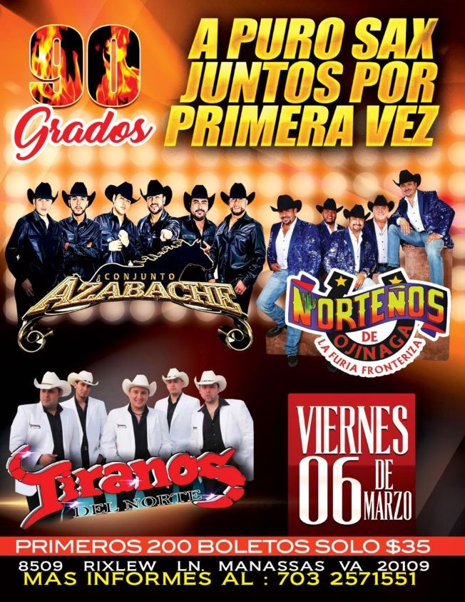 Flyer for Norteños de Ojinaga y Tiranos del Norte en Vivo!