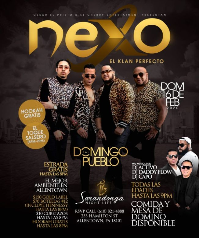 Flyer for NEXO El Klan Perfecto