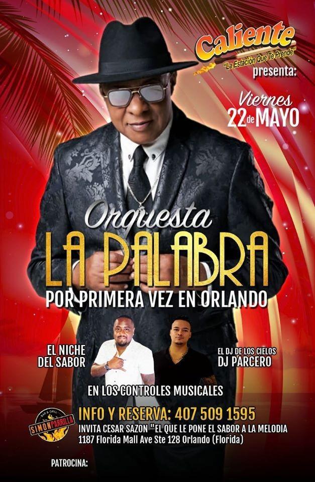 """Flyer for ORQUESTA """"LA PALABRA"""" EN ORLANDO"""