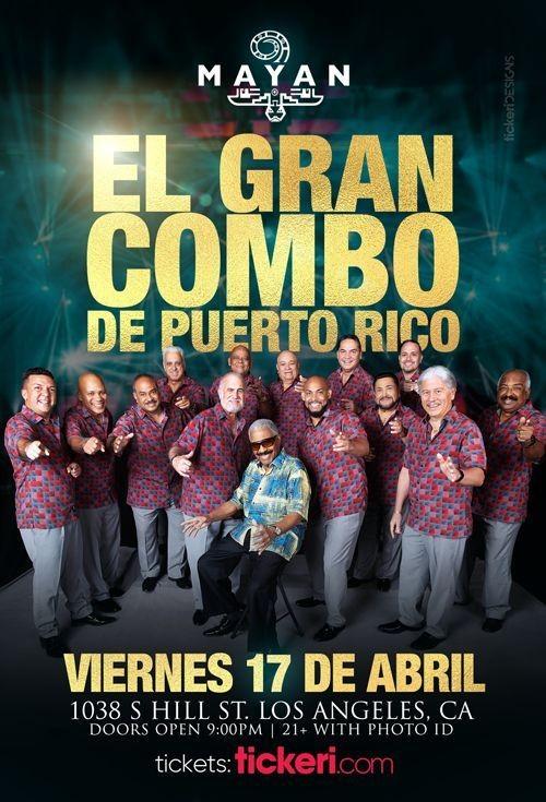 Flyer for EL GRAN COMBO DE PUERTO RICO EN LOS ANGELES NEW DATE CONFIRMED