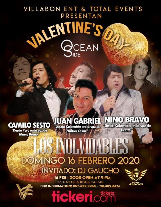Flyer for Tributo Los Inolvidables Camilo Sesto,Juan Gabriel y Nino Bravo En Revere,MA