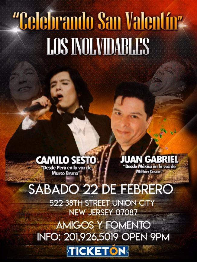 Flyer for Tributo Camilo Sesto y Juan Gabriel En Union City,NJ