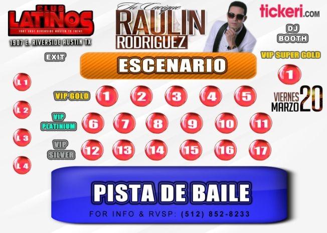 Flyer for Raulin Rodriguez Tu Casique En Concierto Austin Tx POSTPONED