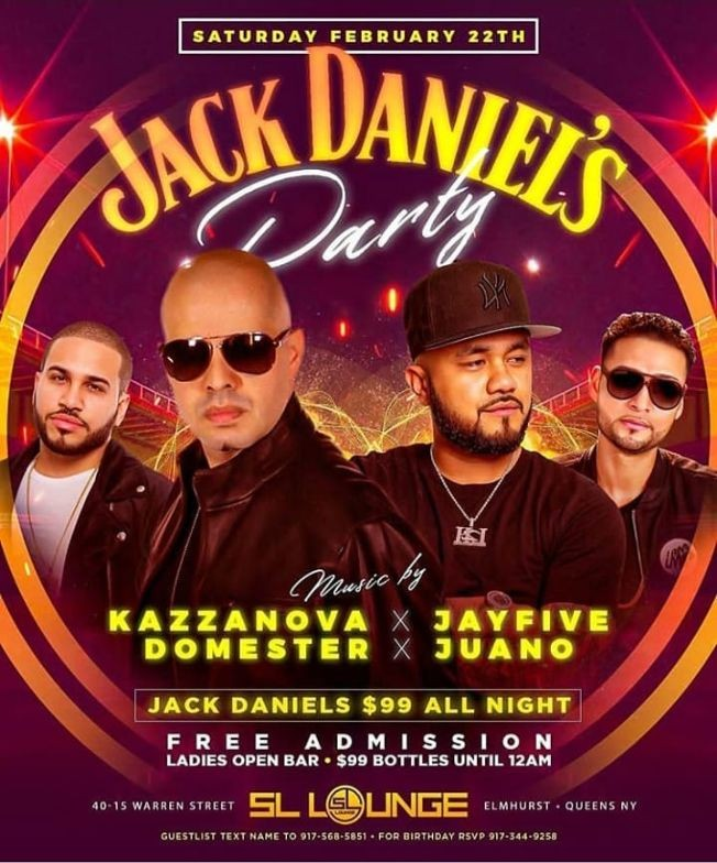 Flyer for Jack Daniels Party At SL Lounge