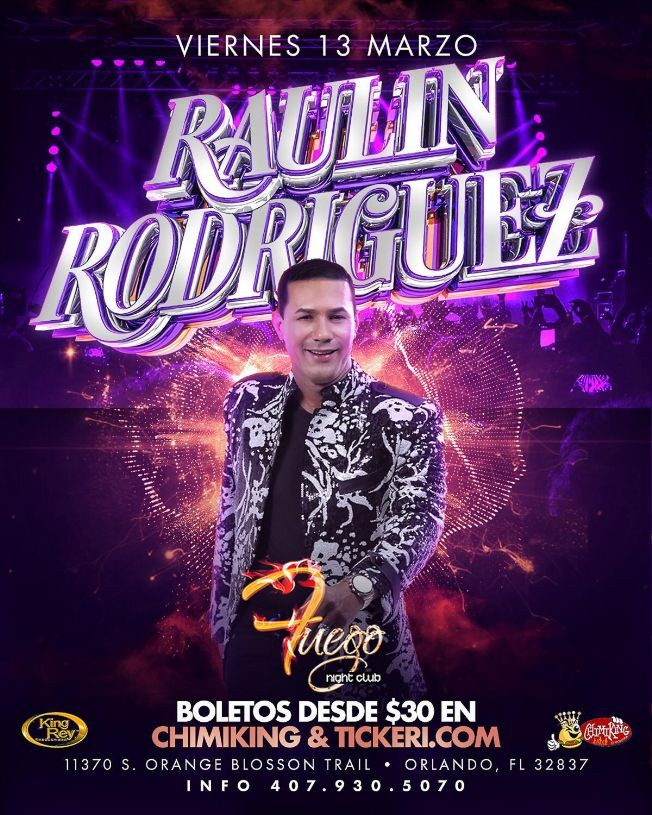 Flyer for Raulin Rodriguez En Orlando,FL POSTPONED