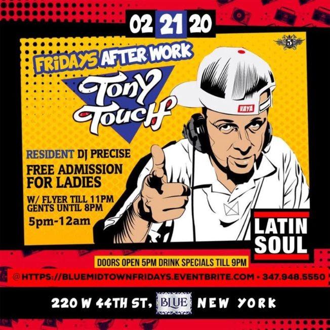 Flyer for Latin Soul AfterWork Fridays