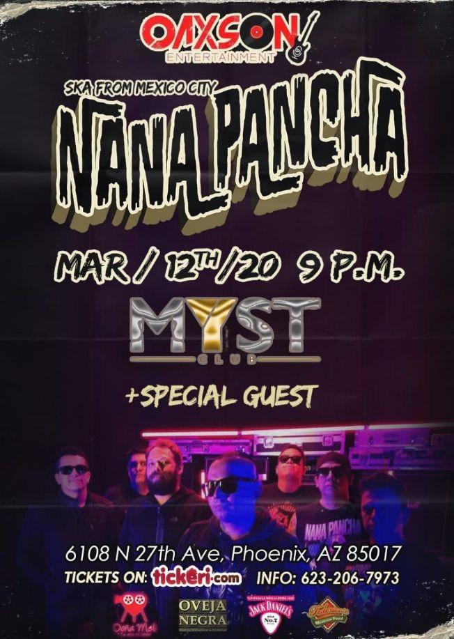 Flyer for Ska From Mexico City Nana Pancha En Phoenix,AZ