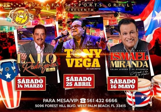 Flyer for ISMAEL MIRANDA en West Palm Beach
