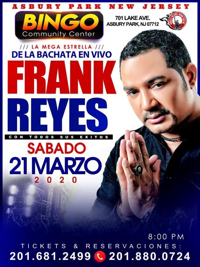 Flyer for Frank Reyes en Concierto! CANCELED