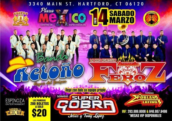 Flyer for Banda Retoño y Banda Feroz En Hartford,CT CANCELED