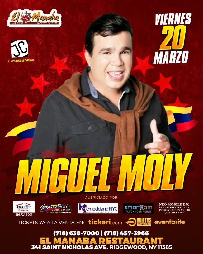 Flyer for Miguel Moly en Brooklyn