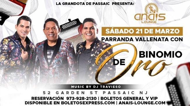Flyer for Binomio De Oro CANCELED