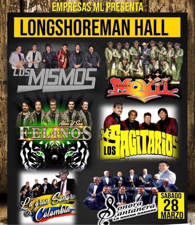 Flyer for Los Mismos,Banda Movil,Los Sagitarios y Mas En Wilmington,CA