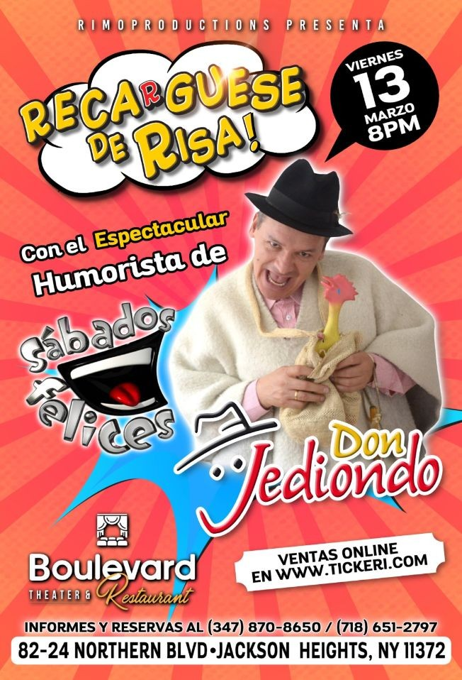 Flyer for Don Jediondo En Jackson Heights,NY POSTPONED