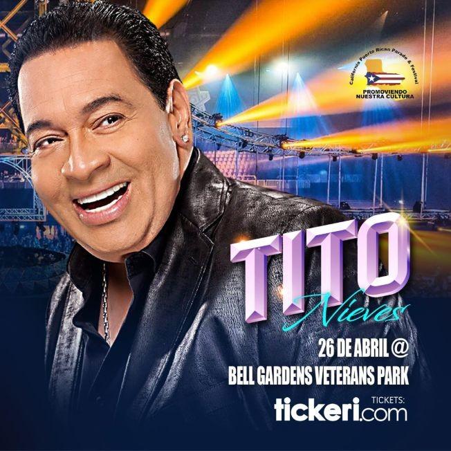 Flyer for Festival Boricua 2020 presenta al gran: Tito Nieves en Vivo!