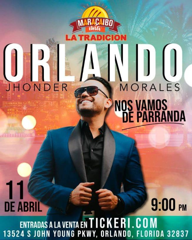Flyer for Jhonder Morales en Vivo en Orlando!